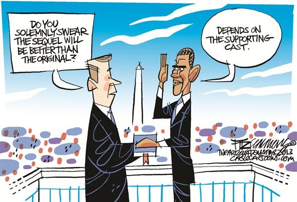 Inauguration © David Fitzsimmons,The Arizona Star,obama,inauguration, obama inauguration