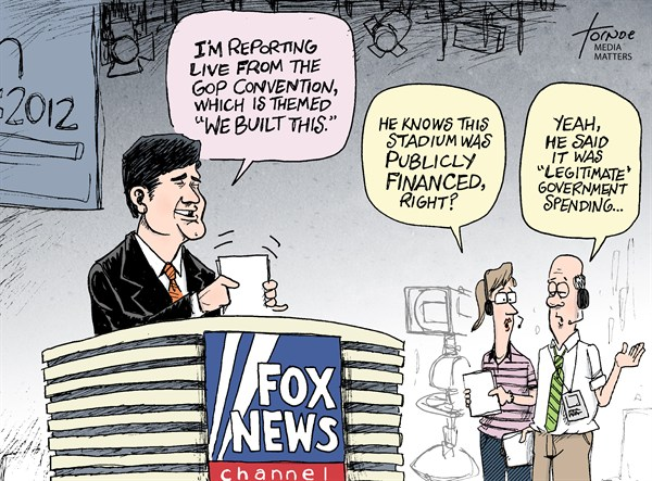 GOP Convention © Rob Tornoe,Media Matters,Convention,GOP,RNC,Republican,Sean Hannity,Fox News,Tampa