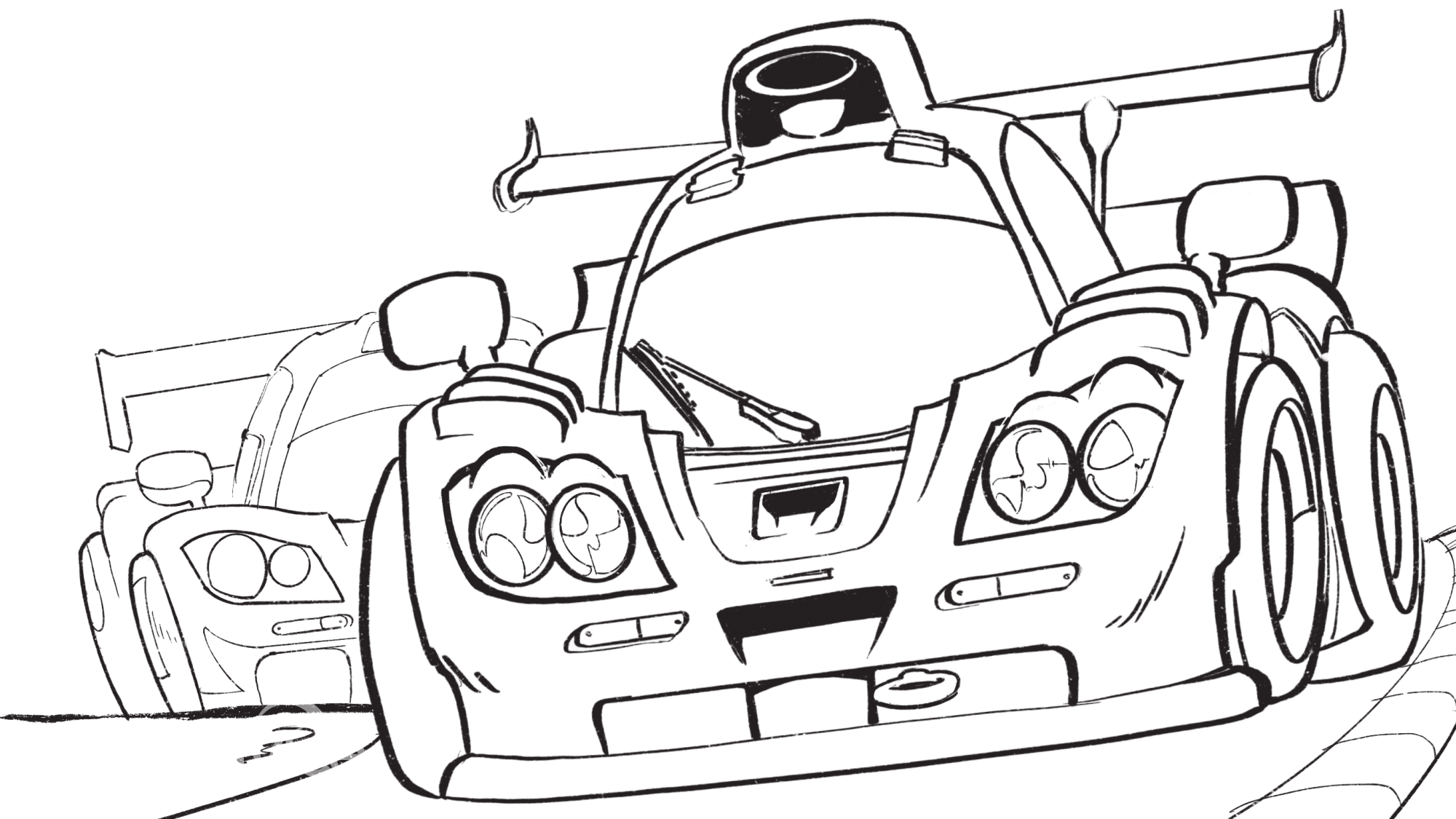 Artists Post Car Colouring Pages For Grownups And Kids