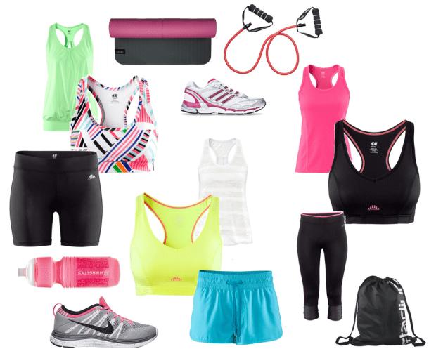 joggingskor och träningskläder
