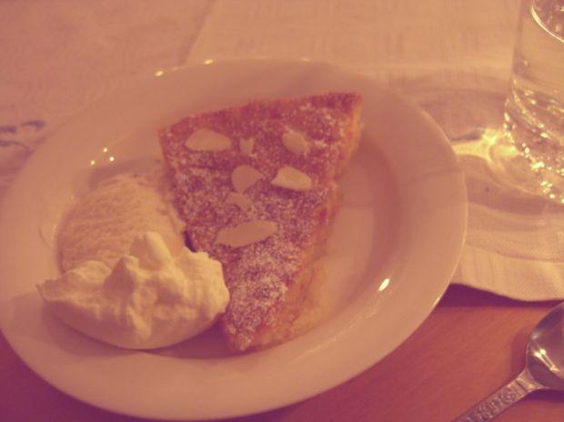 citronkaka med vaniljglass