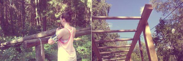 träning i utegymmet rocklundaskogen