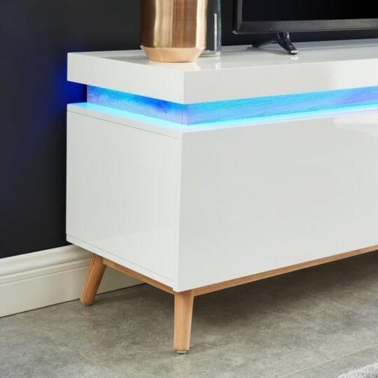 alanis meuble tv a led multicolore l