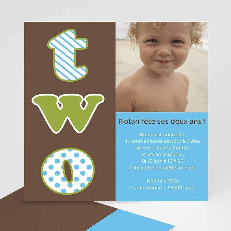 carte invitation anniversaire garcon 2 ans 2 years 2 yahre