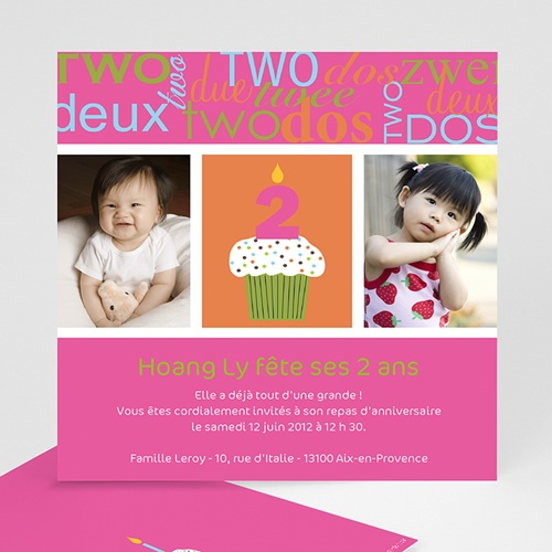 carte invitation anniversaire fille compte jusqu a 2