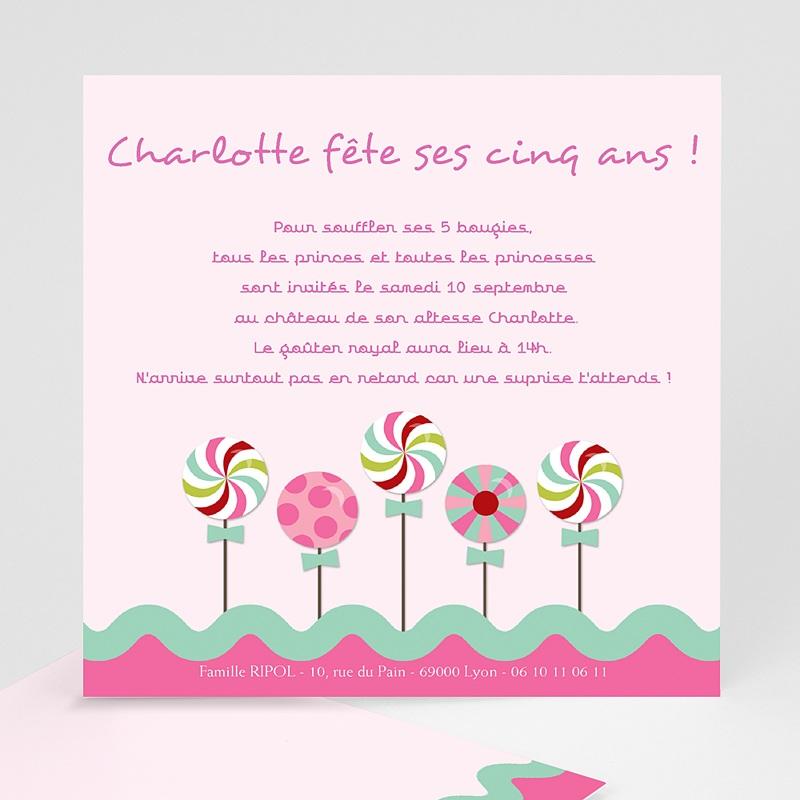 carte invitation anniversaire fille sucre d orge