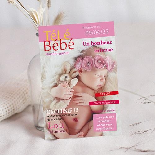 faire part naissance fille magazine tele bebe