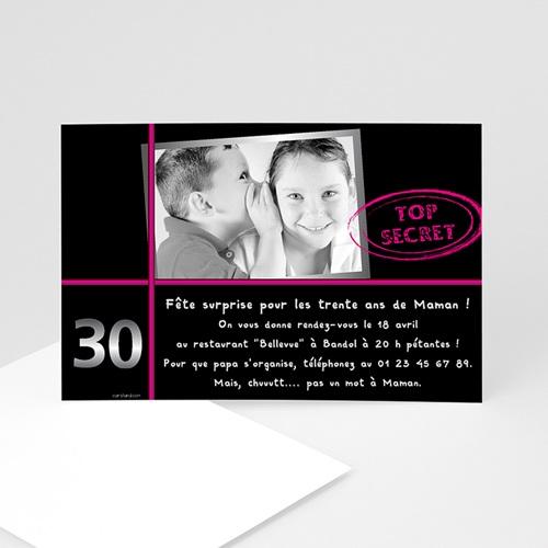 carte invitation anniversaire adulte anniversaire top secret