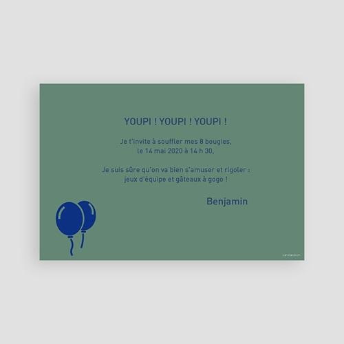 carte invitation anniversaire garcon 8 ans fille et garcon
