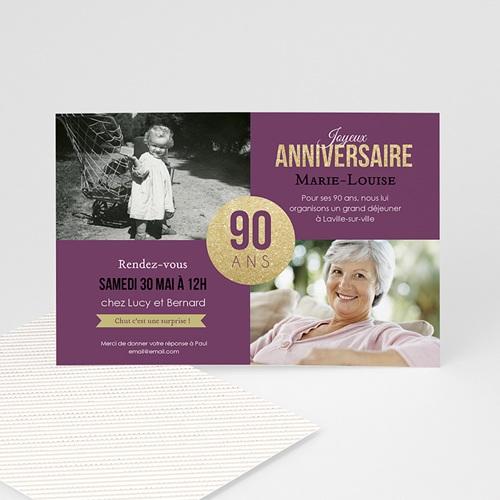 carte invitation anniversaire adulte 90e anniversaire