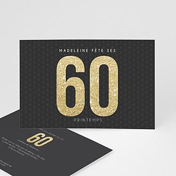 carte invitation anniversaire 60 ans