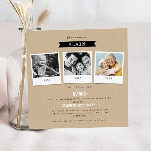 carte invitation anniversaire adulte 60 diapo