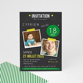 Carte Invitation Anniversaire 18 Ans Echantillon Offert Carteland
