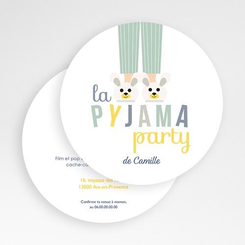 carte invitation anniversaire garcon pyjama party