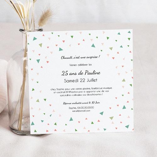 carte invitation anniversaire adulte 25 ans en fete