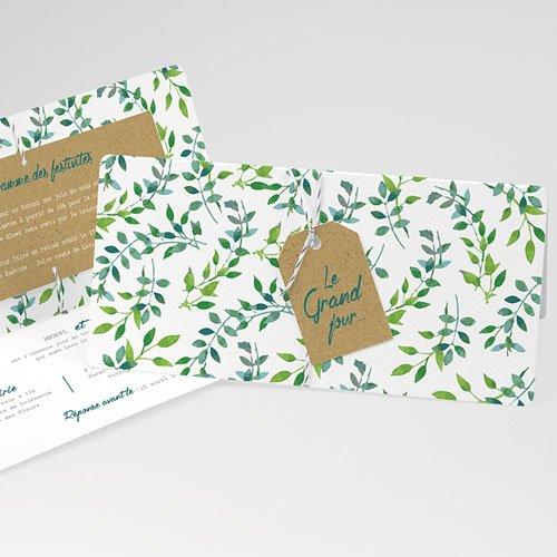 Faire-Part mariage champêtre - Nature & Kraft 54814