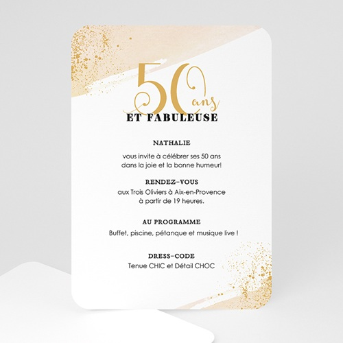 carte invitation anniversaire 50 ans fabuleuse 50