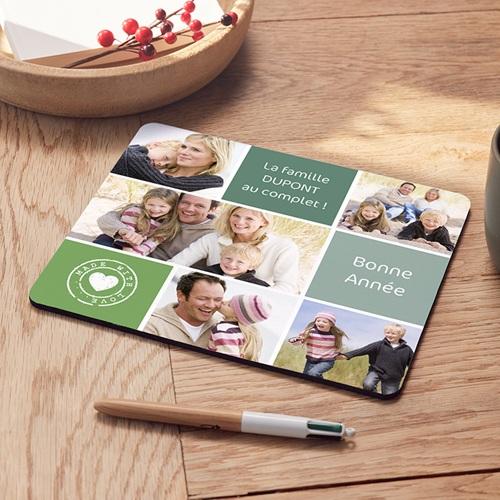 tapis de souris personnalise photo beige vert photos