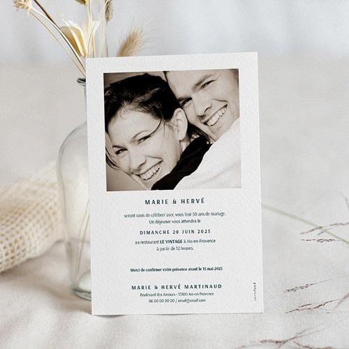 carte invitation anniversaire mariage 50 ans d amour