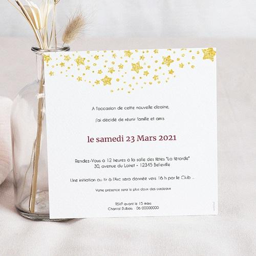 carte invitation anniversaire 60 ans festive 60 ans vernis 3d 14 5 x 15 cm