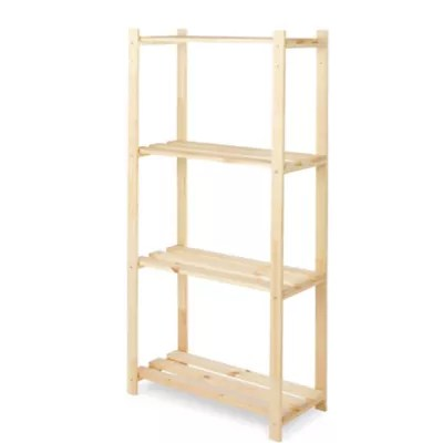 etagere bois 4 tablettes l 65 x h 130 x p 30 cm