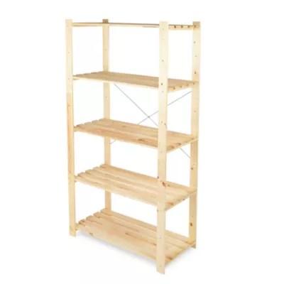 etagere bois symbios 5 tablettes l 90 x h 170 x p 45 cm