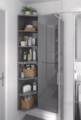 etagere d angle salle de bains gris goodhome imandra 34 x 90 x 36 cm
