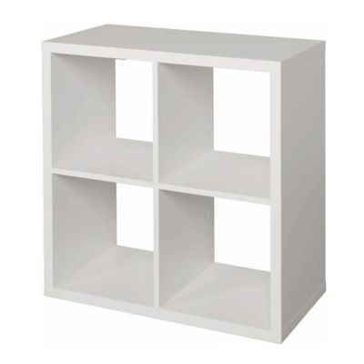 Etagere Modulable 4 Cubes Coloris Blanc Mixxit Castorama