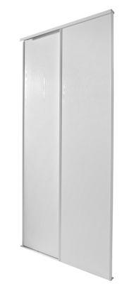 2 Portes De Placard Coulissantes Blizz Blanc Veine 150 X 250 Cm Castorama