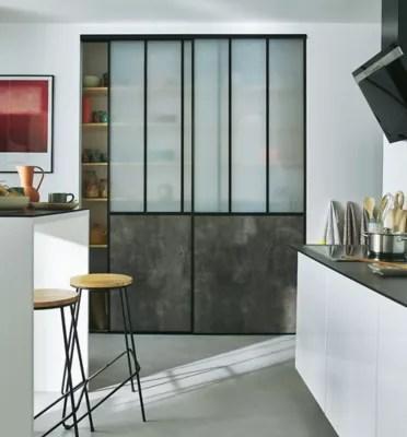 2 portes de placard coulissantes vulcano decor gris beton 180 x 245 cm