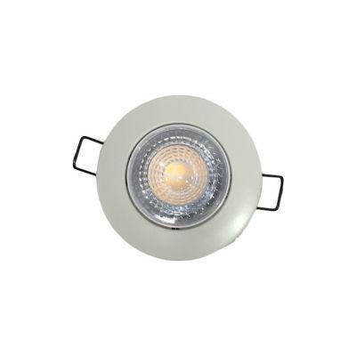 3 spots a encastrer extra plat metal blanc o 8 cm led 6 3w