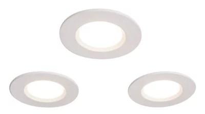 3 spots a encastrer led integree colours etana ip65 blanc o8 5 cm