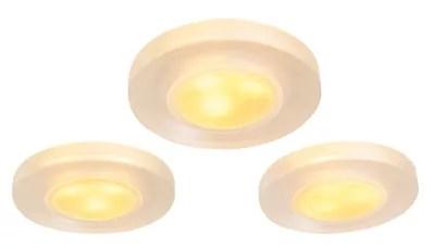 3 Spots A Encastrer Led Integree Idual Ip44 Blanc Rvb O10 Cm Telecommande Castorama