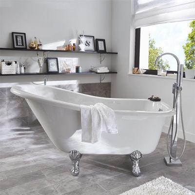 baignoire ilot 147 x 74 cm belle epoque castorama