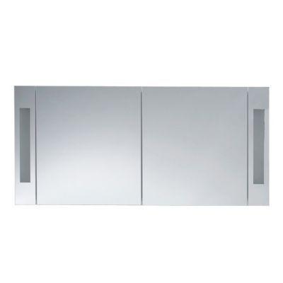 armoire de toilette gris laque cooke lewis seton 120 cm