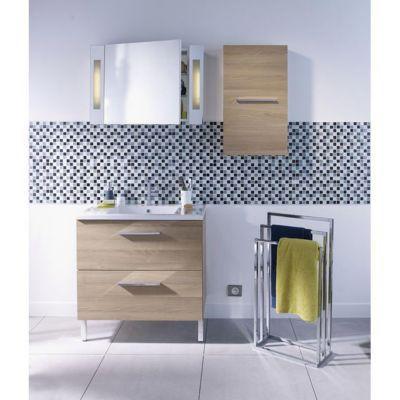 Armoire De Toilette Gris Laque Cooke Lewis Seton 80 Cm Castorama