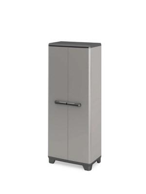 armoire haute plastique 3 tablettes l 68 x h 173 x p 39 cm