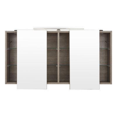 armoire miroir decor chene clair cooke lewis calao 120 cm