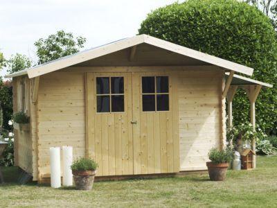 avancee pour abri de jardin bois castorama gent 330 x 75 cm