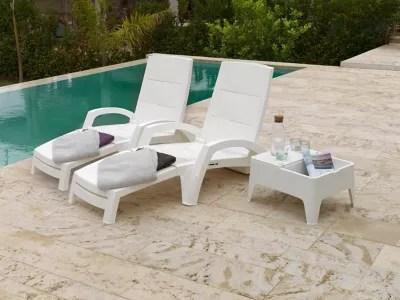 bain de soleil polypropylene ocean blanc lot de 2
