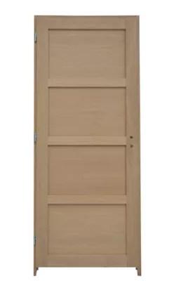 Bloc Porte Plaque Chene 4 Panneaux H 204 X L 73 Cm Poussant Droit Castorama