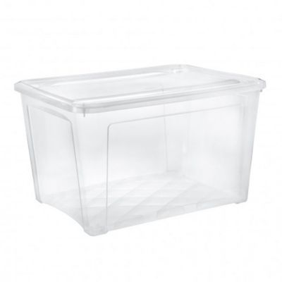 boite de rangement avec couvercle combibox 145l transparent