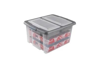 boite de rangement en plastique nesta avec couvercle a compartiments 32l