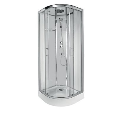 cabine de douche blanche cooke lewis dive easy 80 x 80 cm