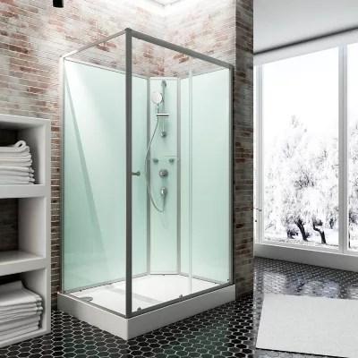 cabine de douche integrale ibiza schulte 90 x 160 cm ouverture droite