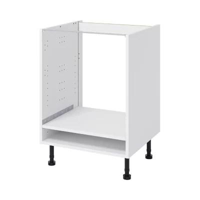 caisson bas de cuisine pour four goodhome caraway blanc h 72 cm x l 60 cm