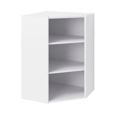 caisson haut d angle de cuisine 1 porte goodhome caraway blanc h 90 cm x l 63 cm