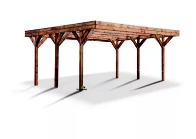 carport double bois blooma leo ldd