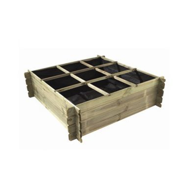 carre potager foreststyle nikol 120 x 120 x h 40 cm