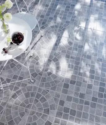carrelage exterieur blocce rosace mix gris 30 x 30 cm
